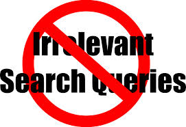 minimise irrelevant search queries